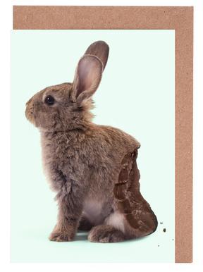 Chocolate Rabbit Greeting Card Set