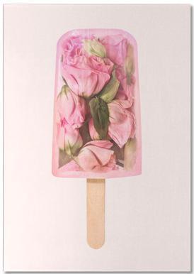 Floral Popsicle -Notizblock