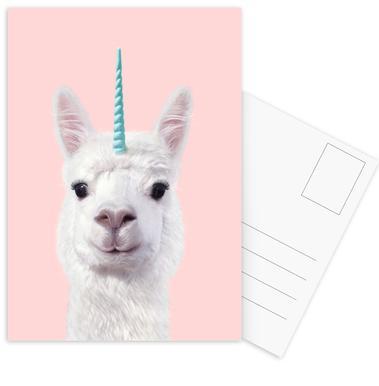 Alpaca Unicorn cartes postales