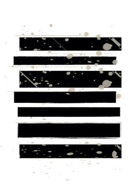 Smudged Stripes Canvas Print