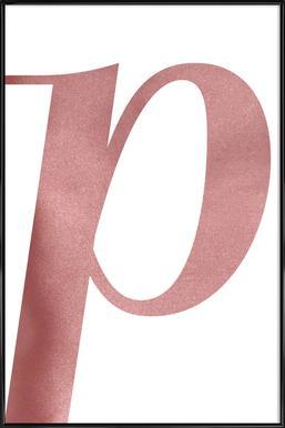 Pink P ingelijste poster