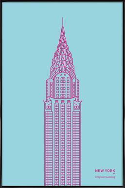 New York - Affiche sous cadre standard