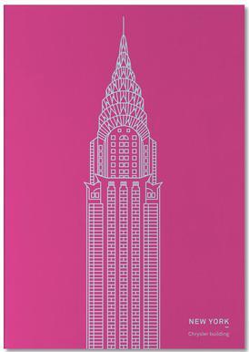 New York Pink Notepad