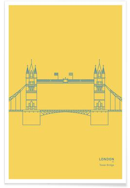 London Tower Bridge affiche