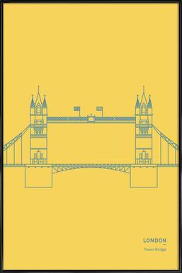 London - Affiche sous cadre standard