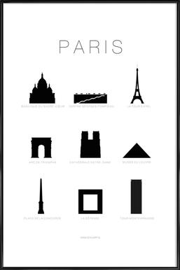 Paris - Affiche sous cadre standard