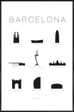Barcelona -Bild mit Kunststoffrahmen