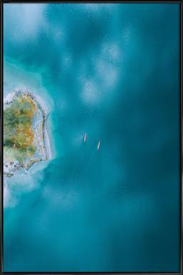 Kayaking - Poster in kunststof lijst
