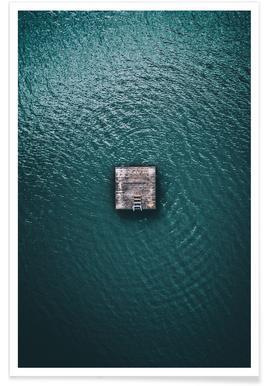 Cabane océanique - Photo aérienne affiche