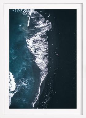 Diamond Beach 2 - Affiche sous cadre en bois
