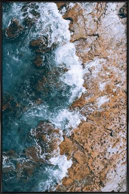 H2O - Poster im Kunststoffrahmen