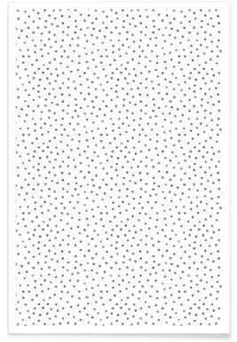 Grey Watercolor Dots affiche