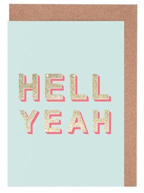 Hell Yeah Greeting Card Set