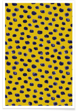 Blueberry Dots Poster