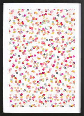 Confetti Mix Pink ingelijste print