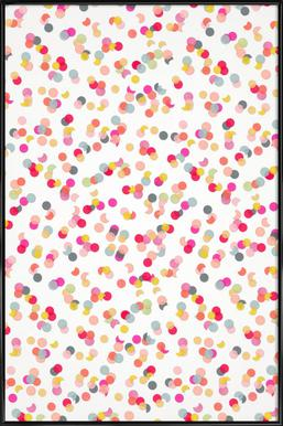 Confetti Mix Pink Framed Poster