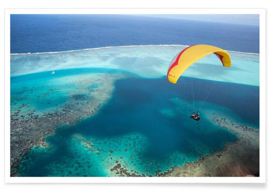 Paragliding French Polynesia Poster