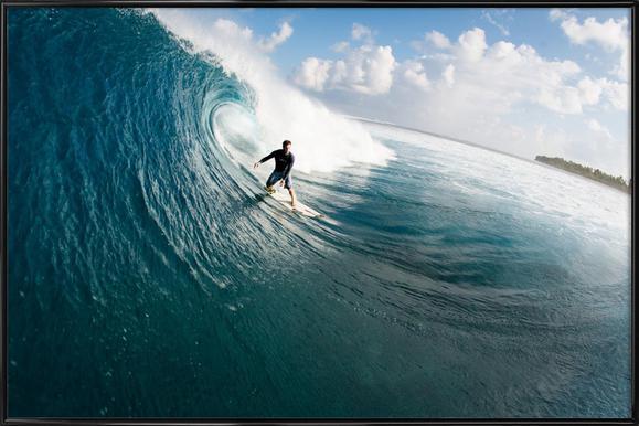 Maldives Surf Framed Poster