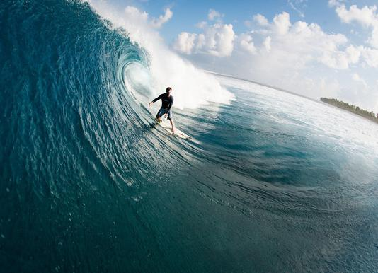 Maldives Surf canvas doek