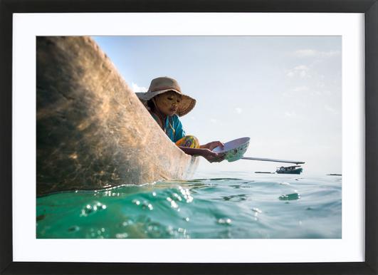 Sea Gypsy 1 Hat Framed Print