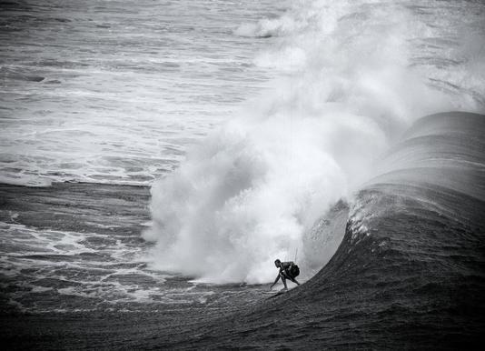 Indonesia Surf canvas doek