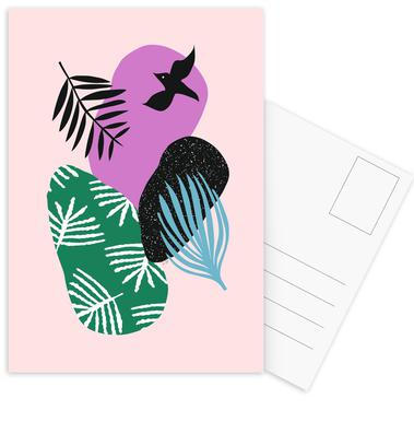 Love Birds in Pink Postcard Set