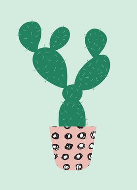 Cactus -Leinwandbild