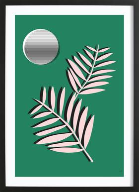 Palm Leaves in Moonlight