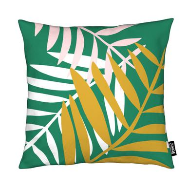 Palm Leaves in Green coussin