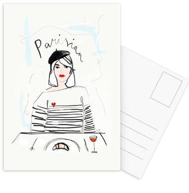 Miss Parisian ansichtkaartenset