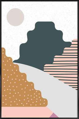 Mountain ingelijste poster