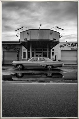 Scott's Automotive I -Poster im Alurahmen