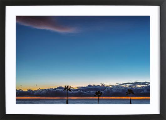 Double Horizon Framed Print