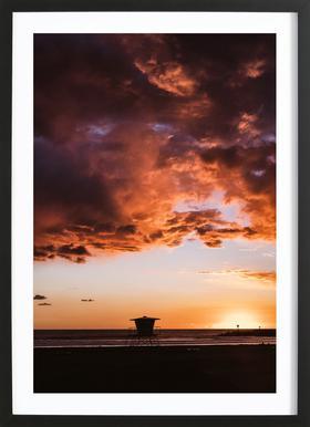 Pacific Sunset ingelijste print