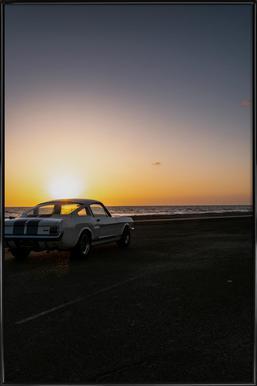 Sunset Mustang ingelijste poster