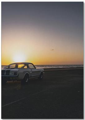 Sunset Mustang Notepad