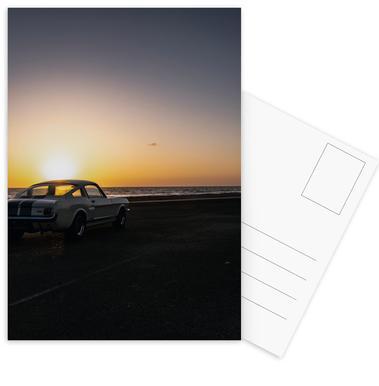 Sunset Mustang -Postkartenset