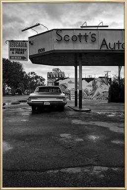 Scott's Automotive II -Poster im Alurahmen