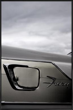 Plymouth Fury ingelijste poster