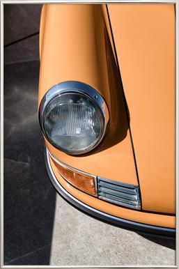 Porsche 911 -Poster im Alurahmen