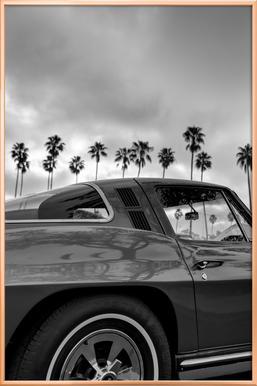 California Corvette -Poster im Alurahmen