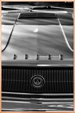 67 Dodge Charger -Poster im Alurahmen