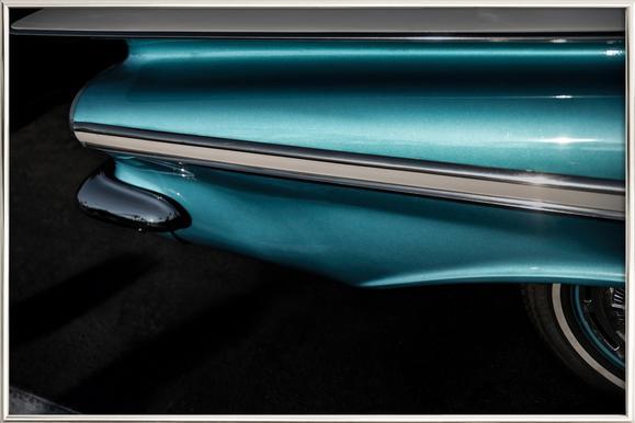 Impala Turquoise -Poster im Alurahmen
