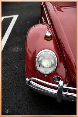 Red Beetle -Poster im Alurahmen