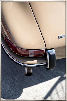 Porsche 911 Detail poster in aluminium lijst
