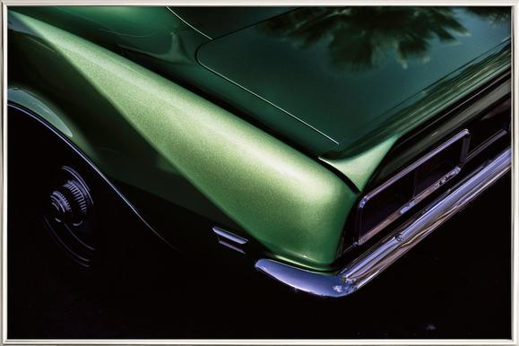 Green Camaro -Poster im Alurahmen