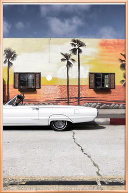 Ford Thunderbird poster in aluminium lijst