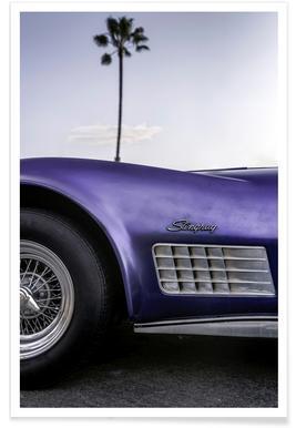 Cali Purple Poster