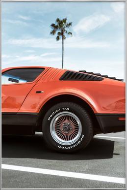 1975 Orange -Poster im Alurahmen