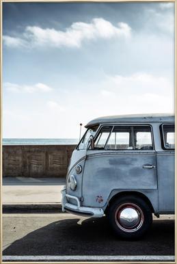 Wolfsburg Surf Blue -Poster im Alurahmen